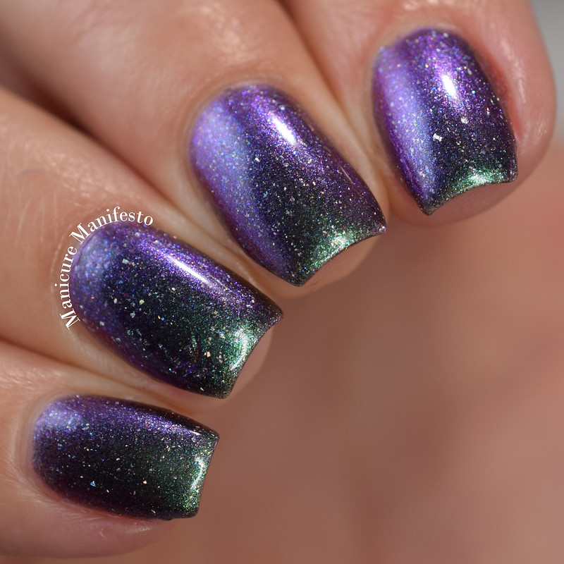 Paint It Pretty Polish Cosmic Showers Bring Space Flowers review
