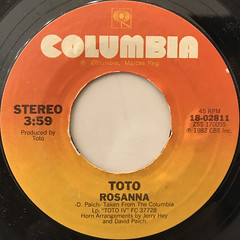 TOTO:ROSANNA(LABEL SIDE-A)
