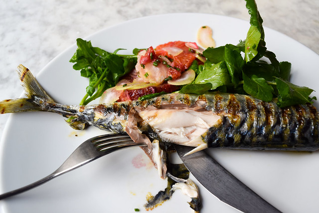 Grilled Mackerel Special at Noble Rot, Bloomsbury