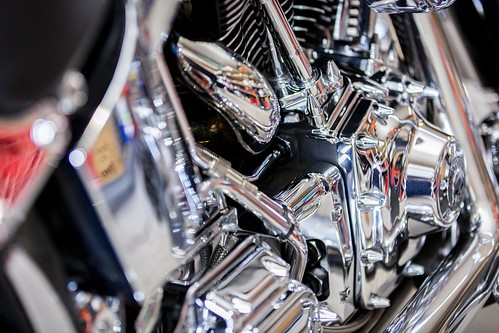 Harley Davidson Motorcycle Engine Detail
