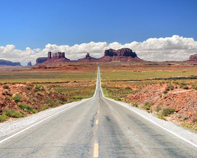 Carretera donde se grabó Forrest Gump en Estados Unidos