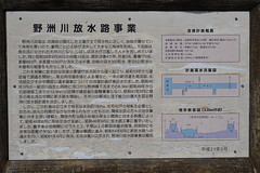 Historical sign at Yasugawakaishu Memorial Park (野洲川改修記念公園)