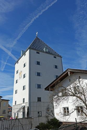2019-03-17 Sylvensteinsee, Bad Tölz 035 Bad Tölz, Turm der Franzmühle