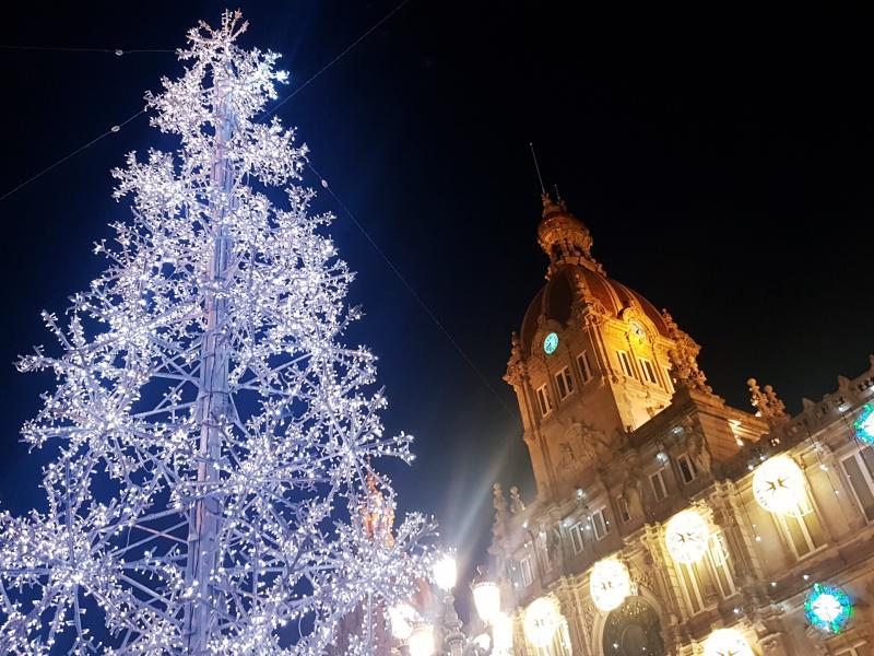 Plaza de Maria Pita Christmas