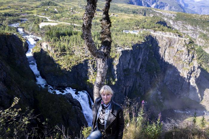 Norja Norge Norway Vøringsfossen Måbødalen kanjoni Eidfjord korkea putous