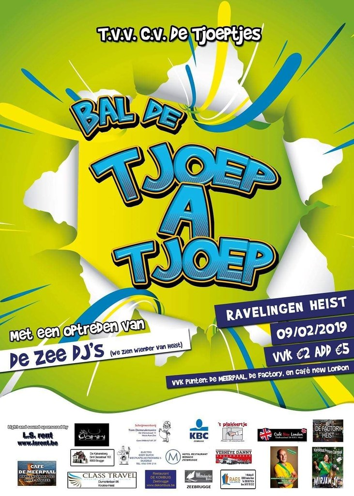 Bal De Tjoep a Tjoep (Zaal Ravelingen, Heist Aan Zee) 09/02/2019