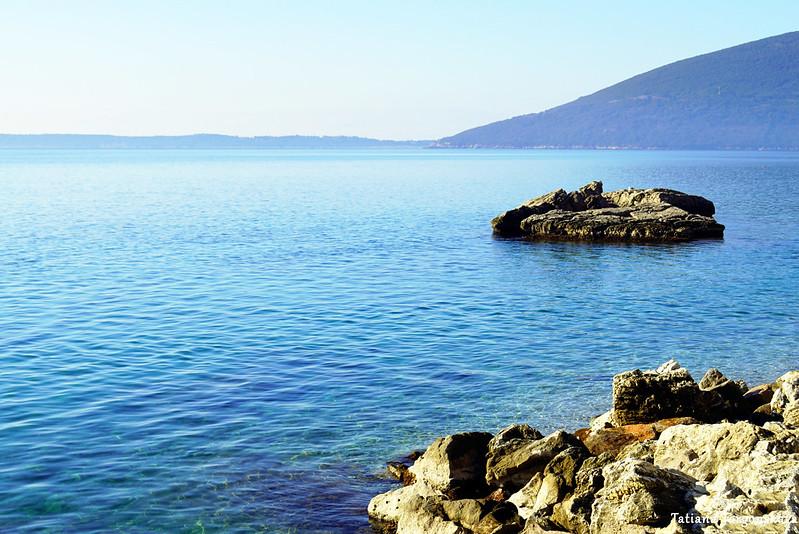 Вид с пляжа в районе Савина