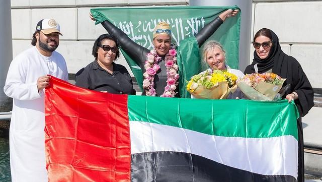 3480 Saudi Woman is the first swimmer to cross Dubai Creek – Dubai Water Canal