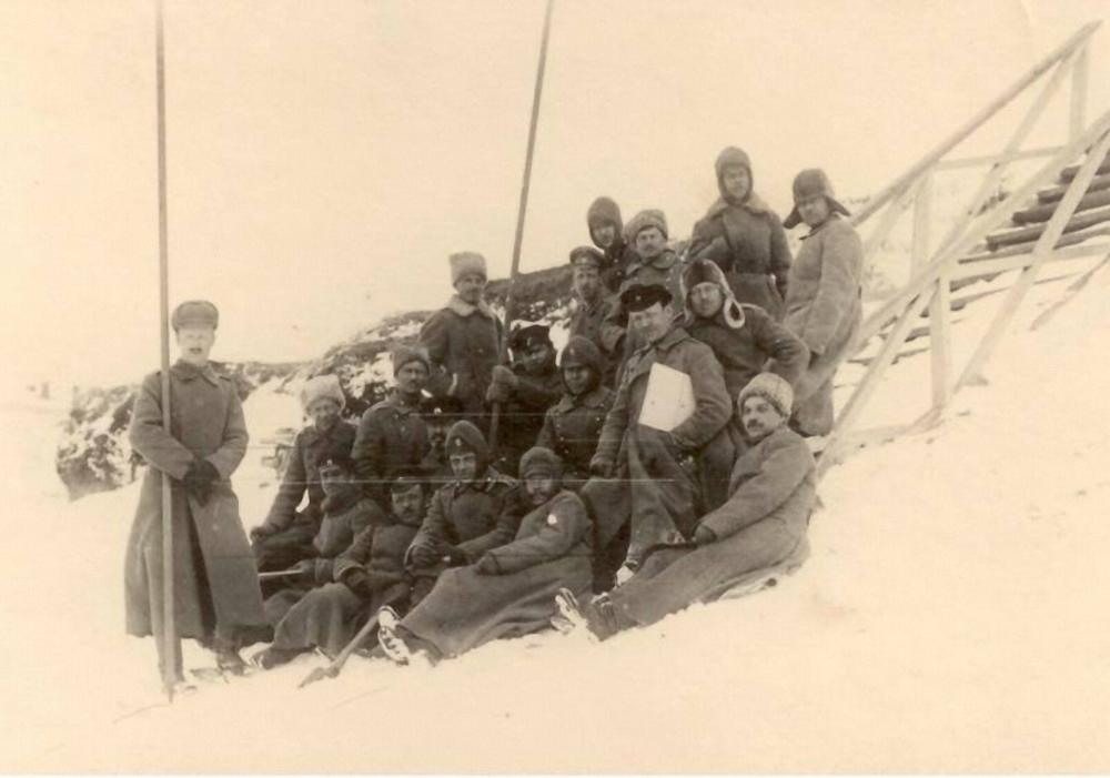 Солдаты и офицеры Якутского полка. 1914 - 1916