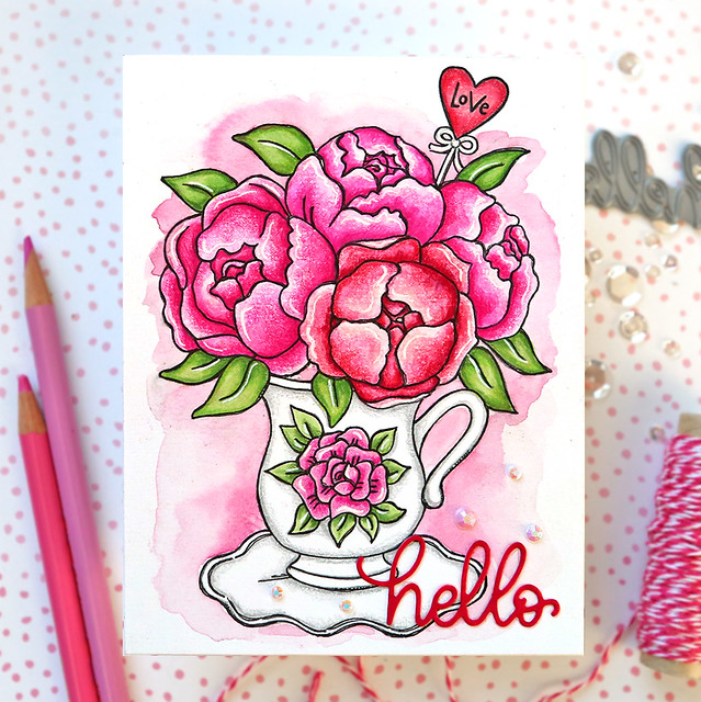 Valentine's Day Watercolor Card 2