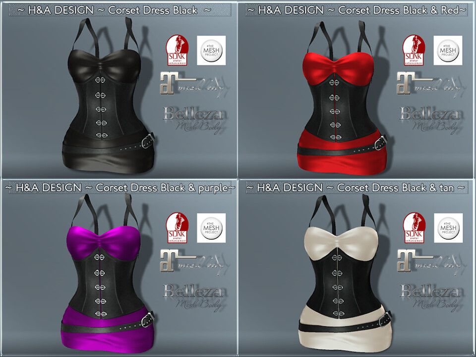 [H&A Designs]-Corset Dress-