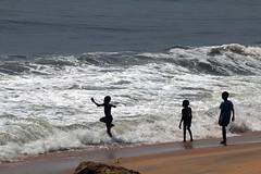 Kids Cape Coast beach in Ghana