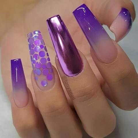 Purple Crome Nails Ideas