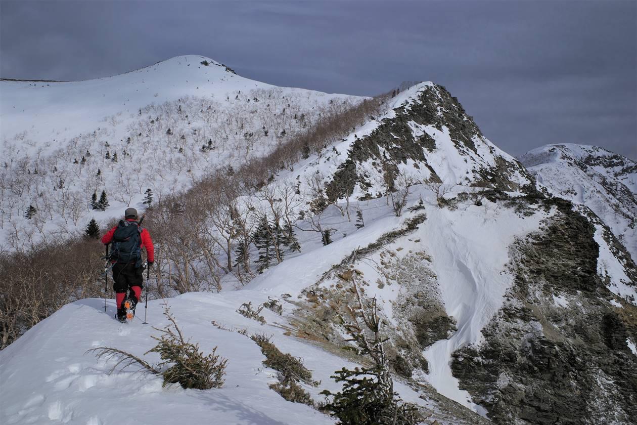 冬の南アルプス烏帽子岳 三伏峠冬季小屋泊雪山登山