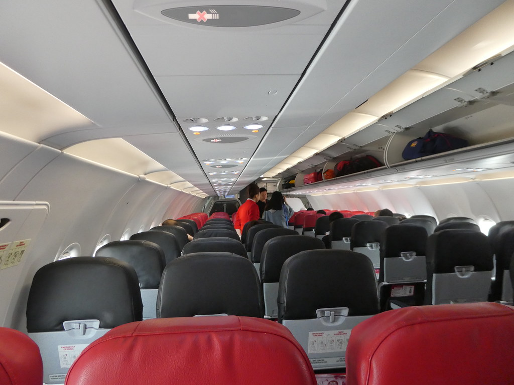 Flying Air Asia from Kuala Lumpur to Singapore