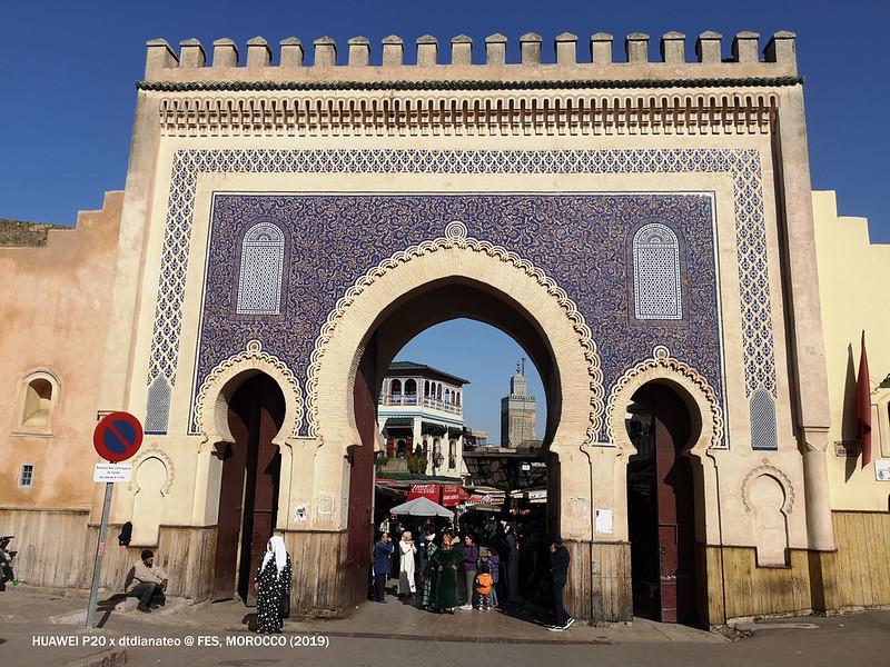 Morocco Fes Bab Bou Jeloud Blue Gate 1