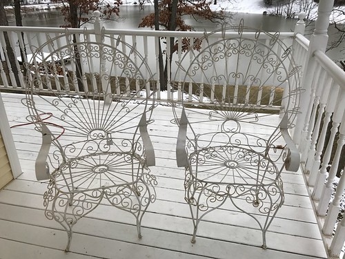 2 Iron peacock patio chairs | by thornhill3