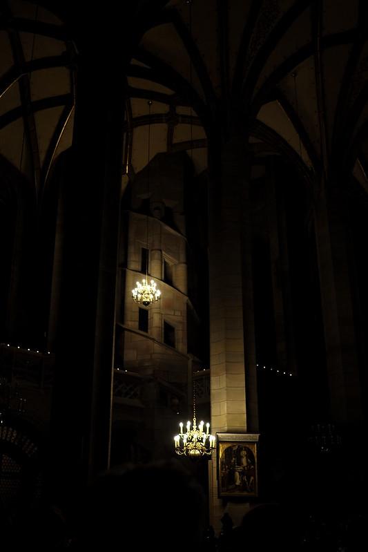 Christmas night in church