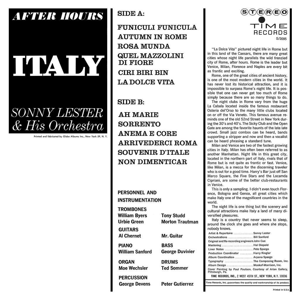Sonny Lester - After Hours Italy