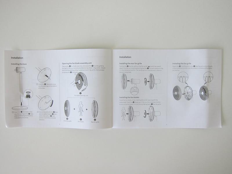 Mi Standing Fan - Installation Instructions