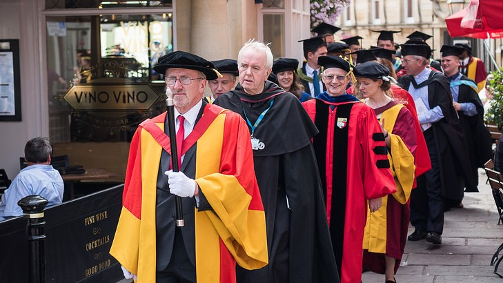 The academic procession