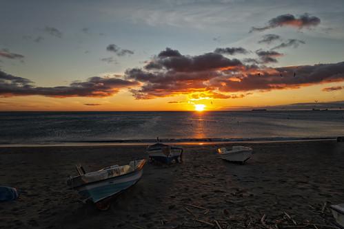 Amanecer playa la Atunara Cadiz