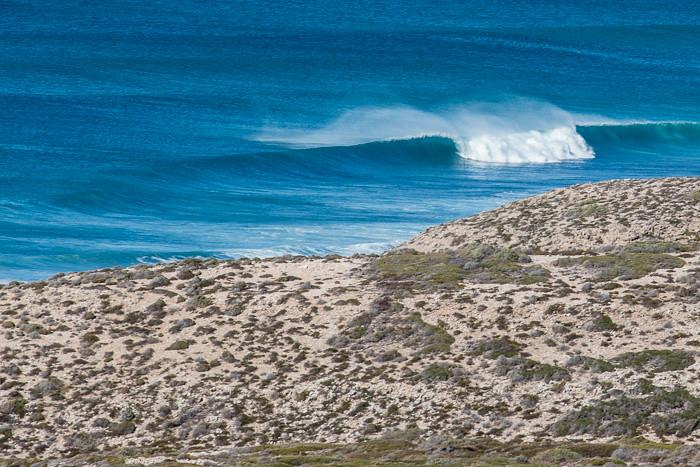 Waves along the beach