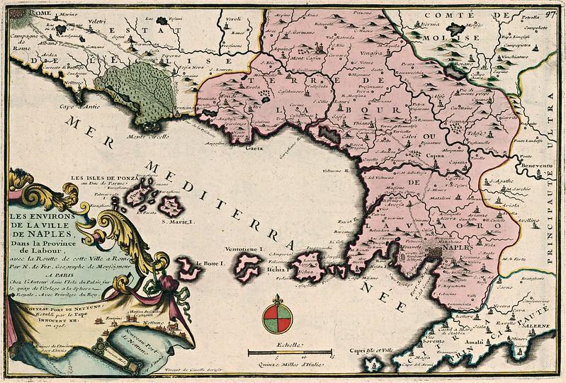 Nicolas de Fer - Les Environs de la Ville de Naples (1705)