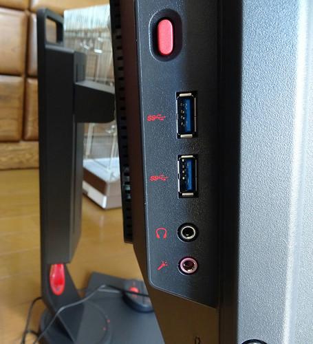 BenQ XL2546 240Hz ゲーミングディスプレイの端子