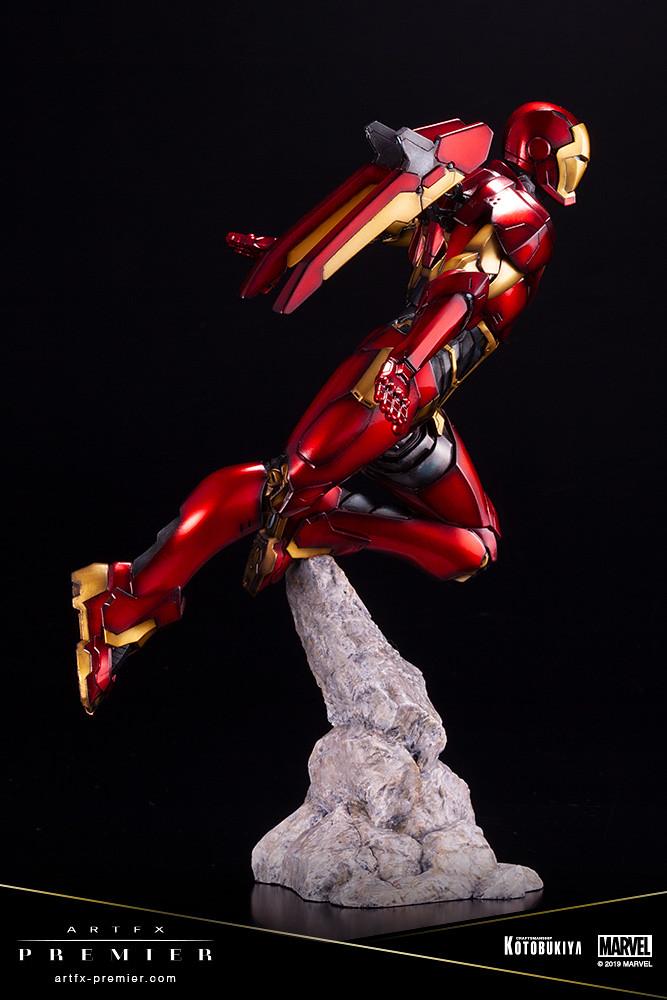 令人驚豔的高級質感! 壽屋 ARTFX PREMIER 系列 Marvel Universe【鋼鐵人】アイアンマン 1/10 比例PVC塗裝完成品