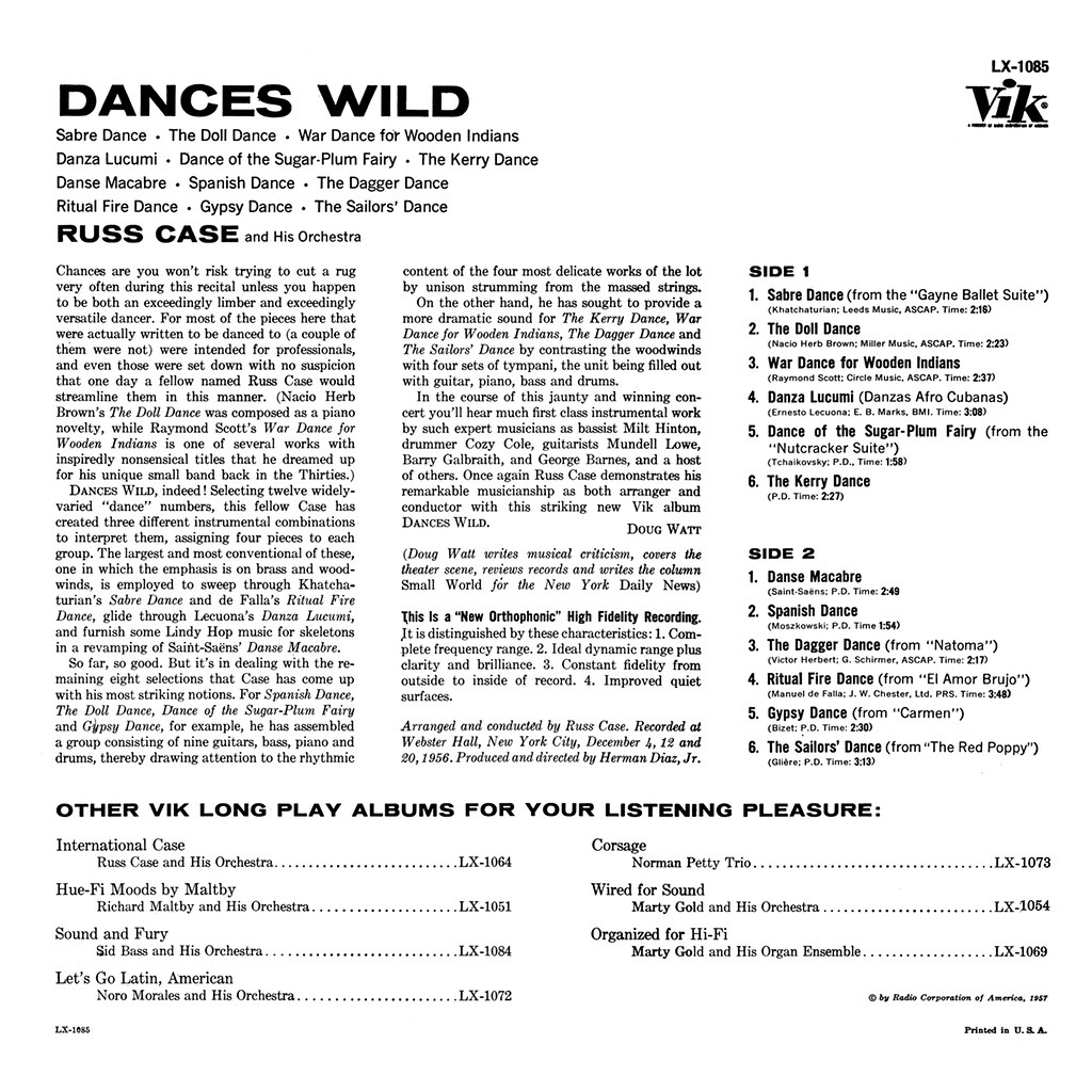 Russ Case - Dances Wild