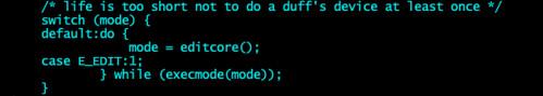 Levee code snippet