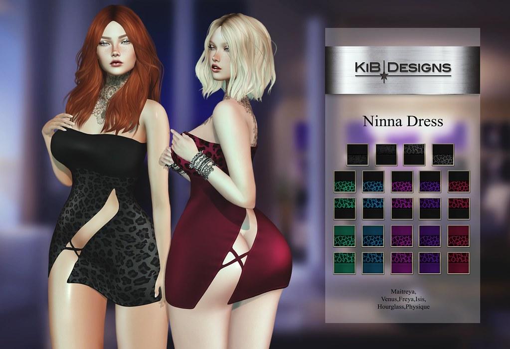 KiB Designs - Ninna Dress @Darkness Event - TeleportHub.com Live!