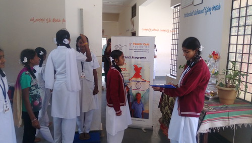 Health Program in Kittur Rani Chenamma School, Hoskote