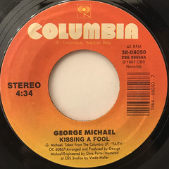 GEORGE MICHAEL:KISSING A FOOL(LABEL SIDE-A)