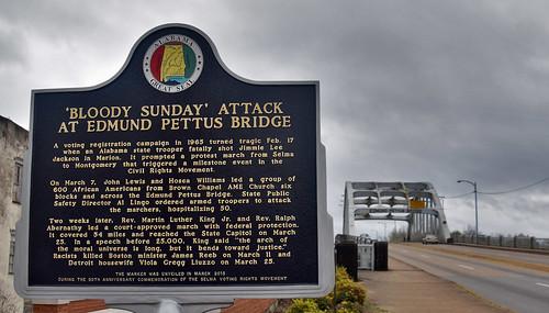 'Bloody Sunday' Attack at Edmund Pettus Bridge' Selma (AL) March 2019