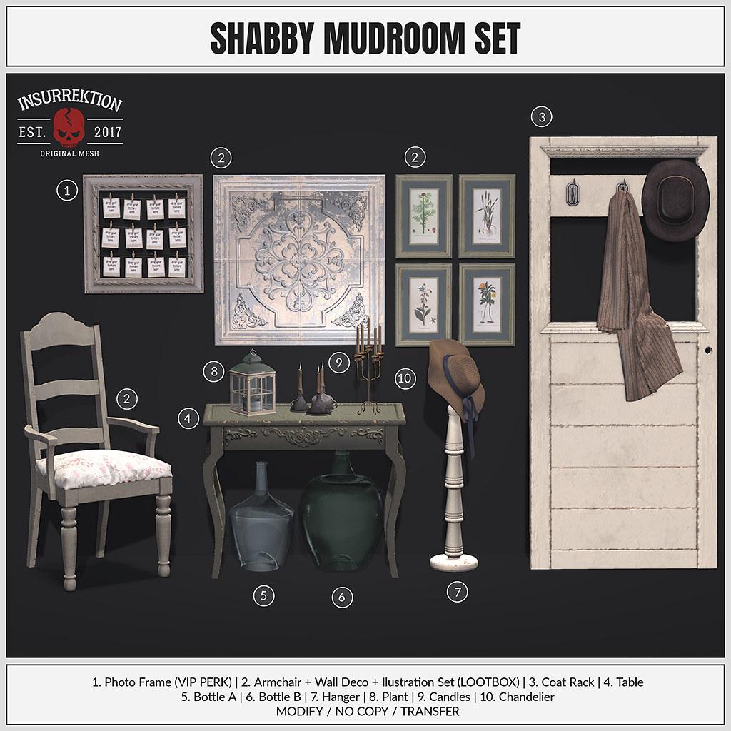 [IK] Shabby Mudroom Set – Key