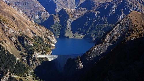 Pizzo Rossetto - Zoom auf den Lago di Luzzone