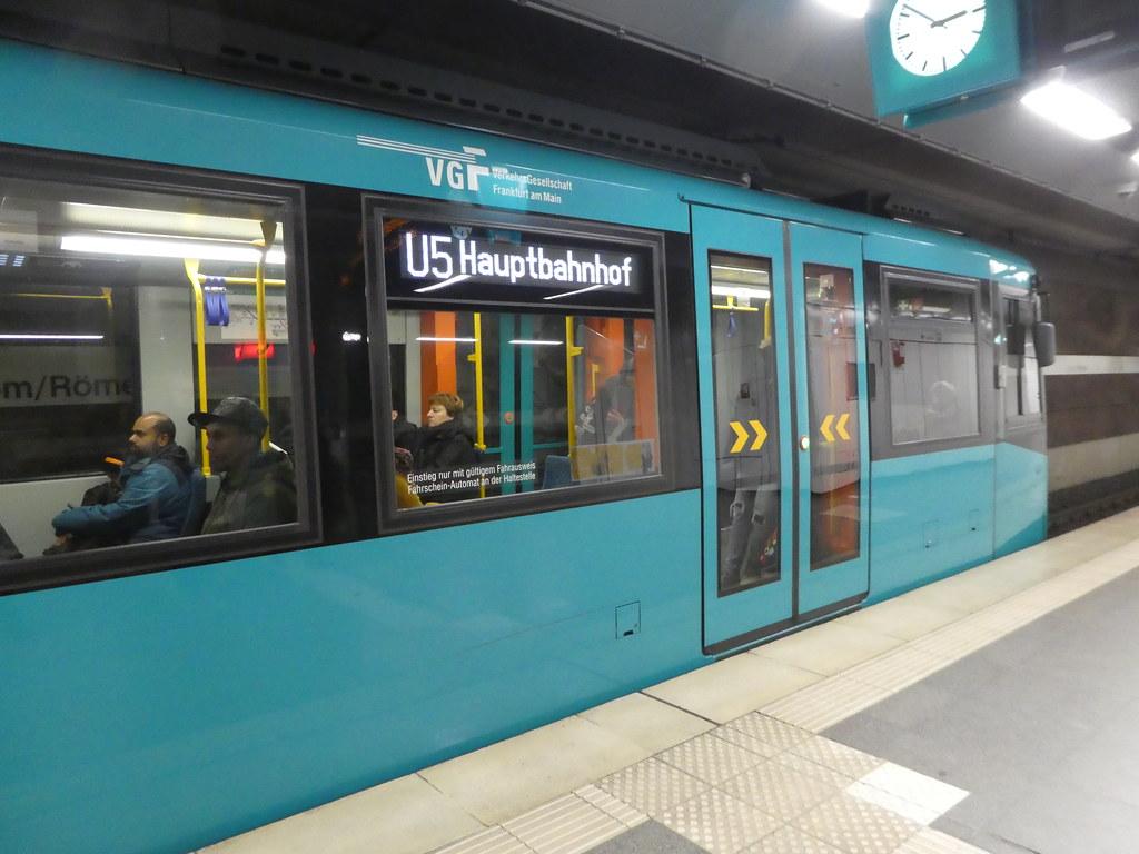 Frankfurt U Bahn trains