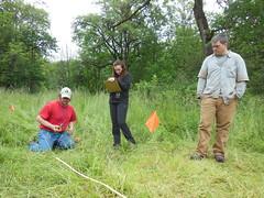 PSU Field Methods class recording sites on Sauvie Island