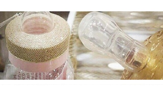 3424 Gold Baby Bottles along with Gold Pacifier are available in Markets for SR 8,000