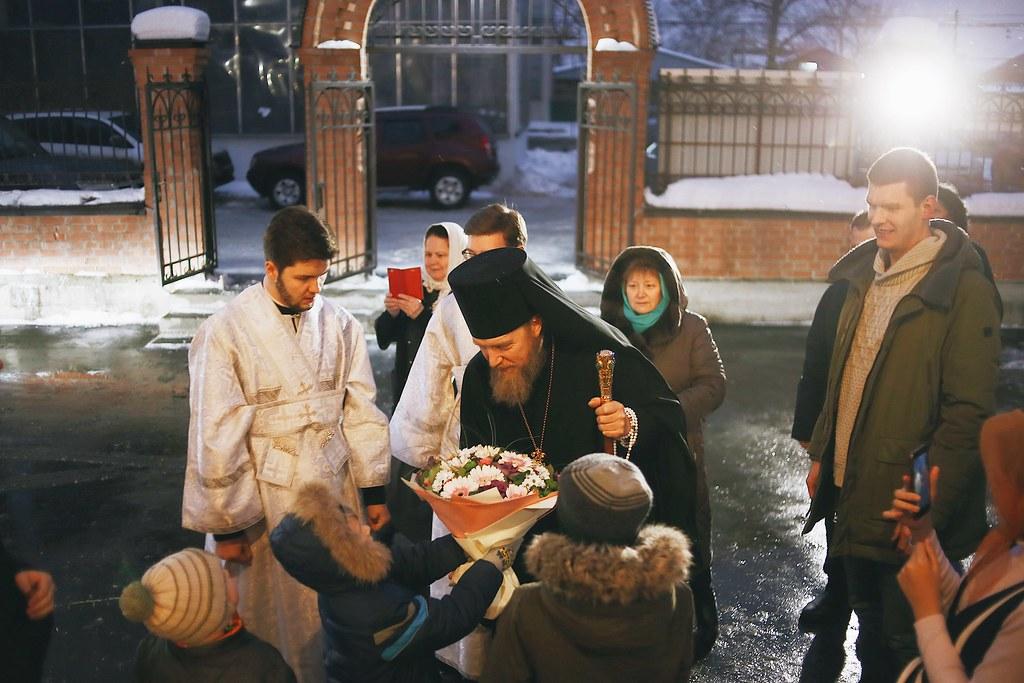 Епископ Домодедовский Иоанн возглавил Всенощное бдение в храме Казанской иконы Божией Матери в Сосенках
