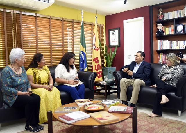 Siqueira encontra integrantes da CSL Mulheres - 24/1/2019