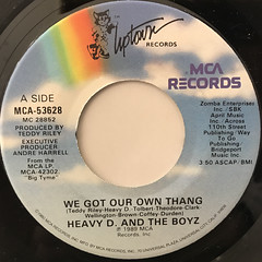 HEAVY D. AND THE BOYZ:WE GOT OUR OWN THANG(LABEL SIDE-A)