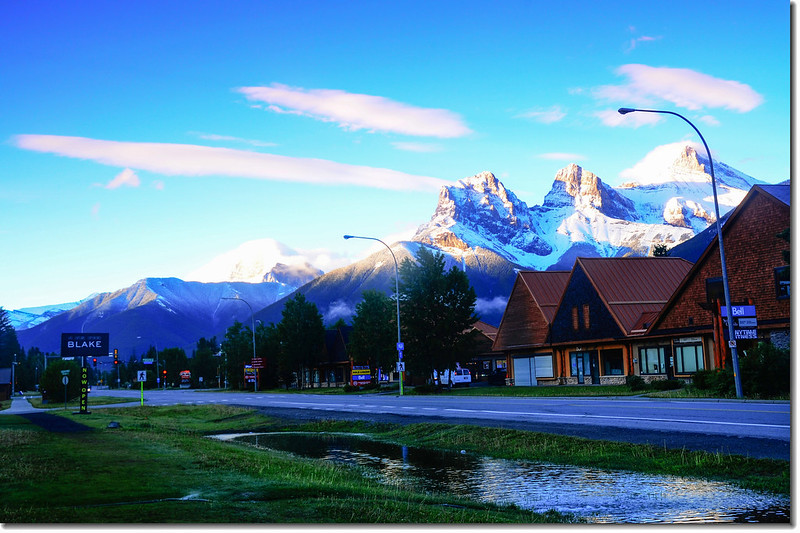 早晨的三姊妹山(The Three Sisters, Canmore) (8)