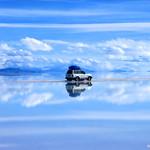 Atravessando o Salar do Uyuni