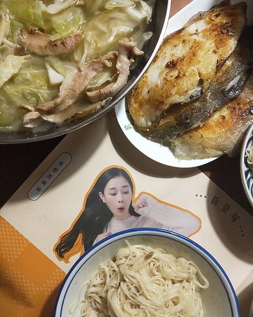 20181226 ✓千千的千拌麵 ✓麻油松阪豬肉湯 ✓香煎鱈魚 #葛蘿的餐桌 #我愛千千 #千拌麵