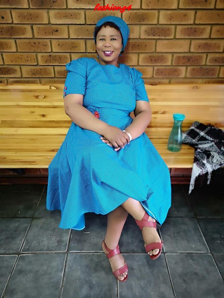 Stylish South African Shweshwe Dresses 2019
