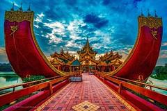 The Karaweik Palace . . .. #karaweikpalacerestaurant #karaweikpalace #kandawgyilake #kandawgyipark #yangonmyanmar #yangon #myanmar #instamyanmar #visitmyanmar #myanmartrip #triptoasia #discoveryphototours #chrislord #chrislordnyc #pixielatedpixels #travel