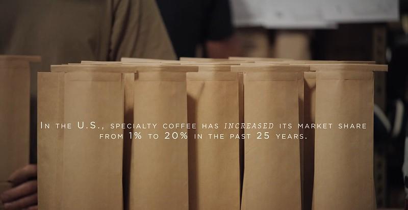Thống kê thị phần cà phê đặc sản tại Mỹ - A Film about Coffee